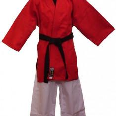 Gi Kempo Master *Bumbac*Rosu/negru*130 cm - Taekwondo