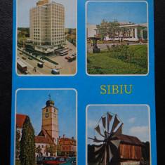 RPR - Sibiu - Hotel Continental - Carte Postala Transilvania dupa 1918, Circulata, Printata