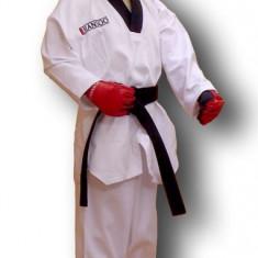 Dobok - ribbed* Polyeste 65%/bumbac 35%*Alb*100 cm - Taekwondo