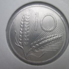 Italia.10 lire.1974.aUNC.in cartonas.cod catalog - km93