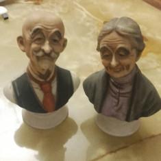 STATUETE BUST MINI PERECHE BUNICI CERAMICA - Figurina/statueta