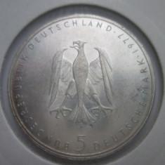 Germania  5 mark  1977(j) . argint