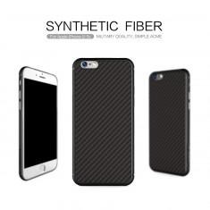 Husa iPhone 6 6S Synthetic Fiber by Nillkin, iPhone 6/6S, Negru, Plastic, Apple