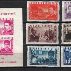 RRR APARAREA PATRIOTICA LP. 168 +169 MNH LUX - Timbre Romania, Nestampilat