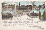 BUZIAS  BANAT  SALUTARI DIN BUZIAS  LITOGRAFIE  CIRCULATA  1900, Printata