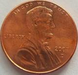 Moneda 1 Cent - SUA, anul 2007 D *cod 699b UNC, America de Nord