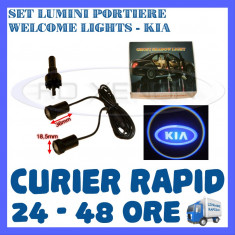 SET 2 x LUMINI LOGO LASER KIA GENERATIA 6 (12V, CAMION 24V) - LED CREE 7W