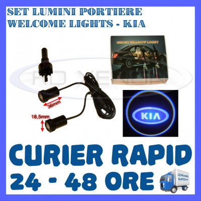 SET 2 x LUMINI LOGO LASER KIA GENERATIA 6 (12V, CAMION 24V) - LED CREE 7W foto
