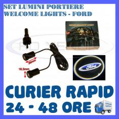 SET 2 x LUMINI LOGO LASER FORD GENERATIA 6 (12V, CAMION 24V) - LED CREE 7W