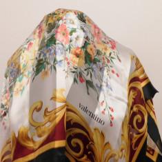 VALENTINO ESARFA ORIGINALA SUPERBA MATASE NATURALA 90 X 90 CM - Esarfa, Sal Dama Valentino, Culoare: Din imagine, Marime: Marime universala