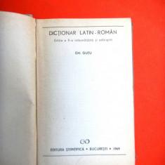 DICTIONAR LATIN ROMAN Ghe Gutu