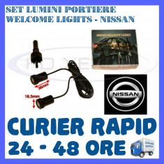 SET 2 x LUMINI LOGO LASER NISSAN GENERATIA 6 (12V, CAMION 24V) - LED CREE 7W