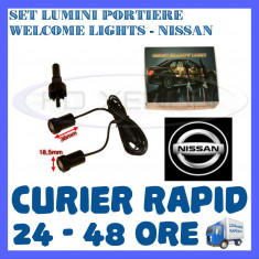 SET 2 x LUMINI LOGO LASER NISSAN GENERATIA 6 (12V, CAMION 24V) - LED CREE 7W - Logo Marca ZDM