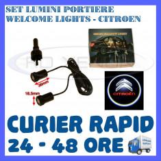 SET 2 x LUMINI LOGO LASER CITROEN GENERATIA 6 (12V, CAMION 24V) - LED CREE 7W - Logo Marca ZDM
