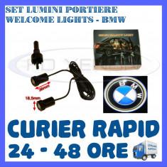SET 2 x LUMINI LOGO LASER BMW GENERATIA 6 (12V, CAMION 24V) - LED CREE 7W - Logo Marca ZDM