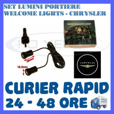 SET 2 x LUMINI LOGO LASER CHRYSLER GENERATIA 6 (12V, CAMION 24V) - LED CREE 7W - Logo Marca ZDM