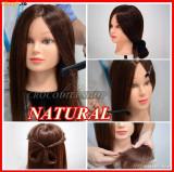 Cap practica coafor Frizerie  Manechin PAR NATURAL 80%, BeautyUkCosmetics