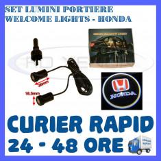 SET 2 x LUMINI LOGO LASER HONDA GENERATIA 6 (12V, CAMION 24V) - LED CREE 7W - Logo Marca ZDM