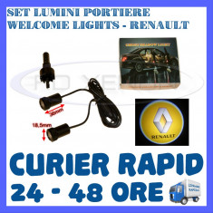 SET 2 x LUMINI LOGO LASER RENAULT GENERATIA 6 (12V, CAMION 24V) - LED CREE 7W - Logo Marca ZDM