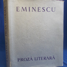 EMINESCU - PROZA LITERARA * ILUSTRATII TRAIAN BRADEAN - 1964 - 5180 EX. - Carte poezie