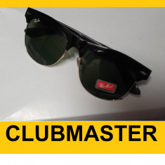 Ochelari RAY BAN de soare WAYFARER Clubmaster + TOC RAYBAN - Ochelari de soare Ray Ban, Unisex, Verde, Plastic, Protectie UV 100%