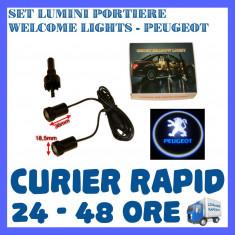 SET 2 x LUMINI LOGO LASER PEUGEOT GENERATIA 6 (12V, CAMION 24V) - LED CREE 7W
