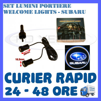 SET 2 x LUMINI LOGO LASER SUBARU GENERATIA 6 (12V, CAMION 24V) - LED CREE 7W foto