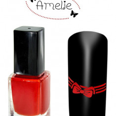 Oja speciala pt matrita ce se aplica cu stampila, Amelie Germania rosie 12 ml