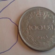 100 LEI 1943 FRUMOASA 3 - Moneda Romania