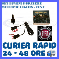 SET 2 x LUMINI LOGO LASER FIAT GENERATIA 6 (12V, CAMION 24V) - LED CREE 7W - Logo Marca ZDM