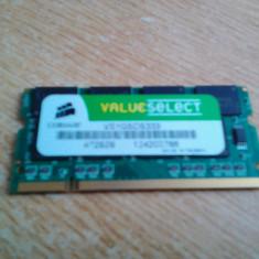 MEMORIE LAPTOP DDR CORSAIR 333 MHZ PC 2700 PERFECT FUNCTIONALA +BONUS - Memorie RAM laptop Corsair, 1 GB