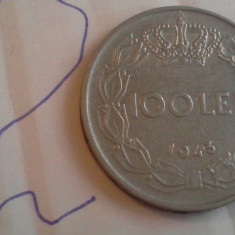 100 LEI 1943 FRUMOASA /2 - Moneda Romania