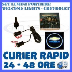 SET 2 x LUMINI LOGO LASER CHEVROLET GENERATIA 6 (12V, CAMION 24V) - LED CREE 7W - Logo Marca ZDM