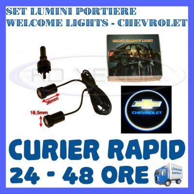 SET 2 x LUMINI LOGO LASER CHEVROLET GENERATIA 6 (12V, CAMION 24V) - LED CREE 7W foto