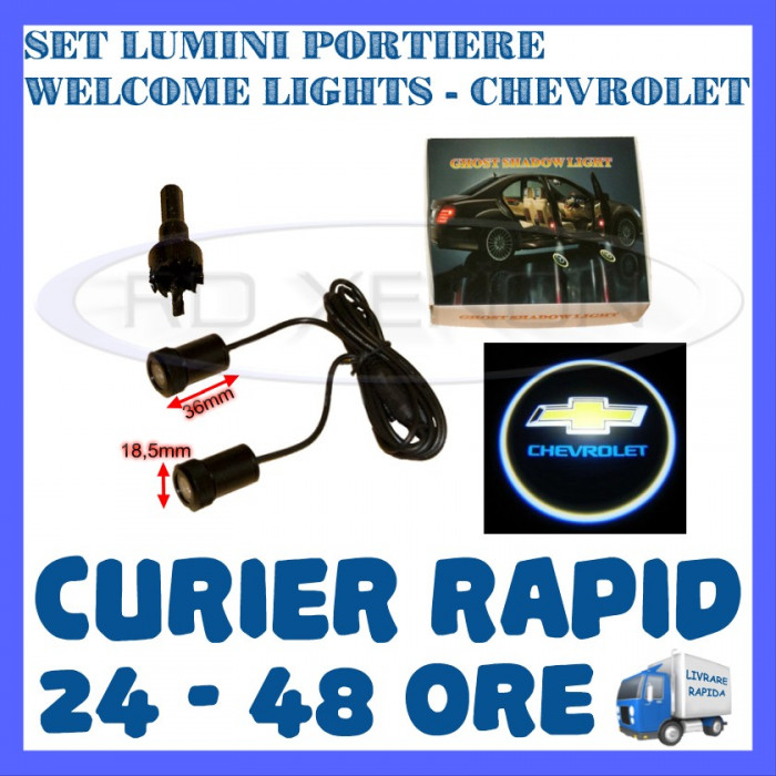 SET 2 x LUMINI LOGO LASER CHEVROLET GENERATIA 6 (12V, CAMION 24V) - LED CREE 7W