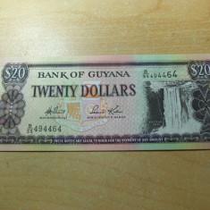LL bancnota Guyana 20 dollar UNC - bancnota europa