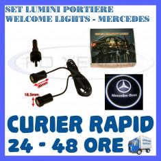 SET 2 x LUMINI LOGO LASER MERCEDES GENERATIA 6 (12V, CAMION 24V) - LED CREE 7W