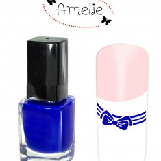 Oja speciala pt matrita ce se aplica cu stampila, Amelie Germania albastra 12 ml