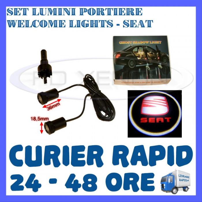 SET 2 x LUMINI LOGO LASER SEAT GENERATIA 6 (12V, CAMION 24V) - LED CREE 7W