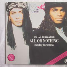 Milli Vanilli – All Or Nothing - The U.S. Remix Album _ vinyl(LP) Olanda - Muzica Hip Hop Altele, VINIL
