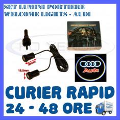 SET 2 x LUMINI LOGO LASER AUDI GENERATIA 6 (12V, CAMION 24V) - LED CREE 7W - Logo Marca ZDM