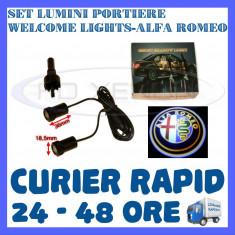 SET 2 x LUMINI LOGO LASER ALFA ROMEO GENERATIA 6 (12V, CAMION 24V) - LED CREE 7W - Logo Marca ZDM