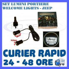 SET 2 x LUMINI LOGO LASER JEEP GENERATIA 6 (12V, CAMION 24V) - LED CREE 7W - Logo Marca ZDM