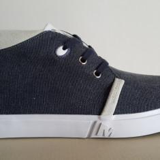 43_Adidasi originali inalti barbati MERRELL_cu piele_cutie_din panza_albastru - Adidasi barbati Merrell, Textil