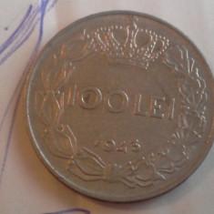 100 LEI 1943 FRUMOASA /1 - Moneda Romania