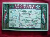 Carnet 20 Ilustrate-Istorie- Circuitul Forturilor la Verdun + harta ,interbelic