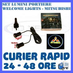 SET 2 x LUMINI LOGO LASER MITSUBISHI GENERATIA 6 (12V, CAMION 24V) - LED CREE 7W