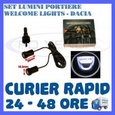 SET 2 x LUMINI LOGO LASER DACIA GENERATIA 6 (12V, CAMION 24V) - LED CREE 7W - Logo Marca ZDM