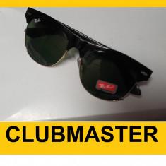 Ochelari RAY BAN de soare WAYFARER Clubmaster - Ochelari de soare Ray Ban, Unisex, Verde, Plastic, Protectie UV 100%