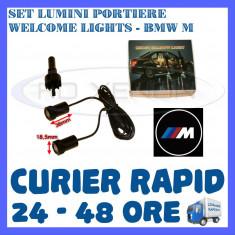 SET 2 x LUMINI LOGO LASER BMW M TYPE GENERATIA 6 (12V, CAMION 24V) - LED CREE 7W